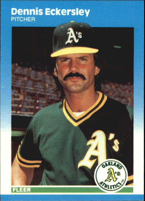 1987 Fleer Update Glossy #30 Dennis Eckersley