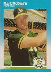 1987 Fleer Update Glossy #76 Mark McGwire