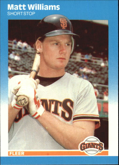 1987 Fleer Update Glossy #129 Matt Williams