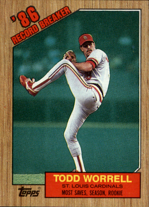 1987 Topps #7 Todd Worrell RB/Most saves&/season& rookie