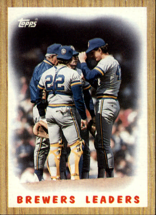 1987 Topps #56 Brewers Team/(Mound conference)