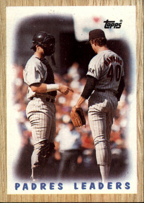 1987 Topps #81 Padres Team/(Andy Hawkins and/Terry Kennedy)