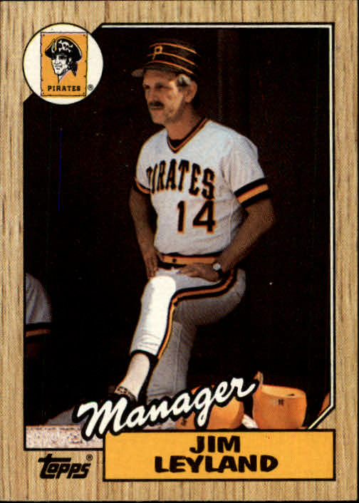 1987 Topps #93 Jim Leyland MG/TC  RC *