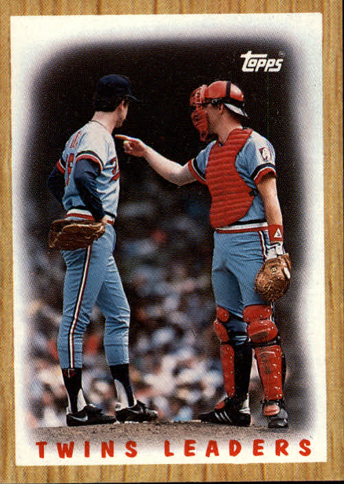 1987 Topps #206 Twins Team/(Frank Viola and/Tim Laudner)