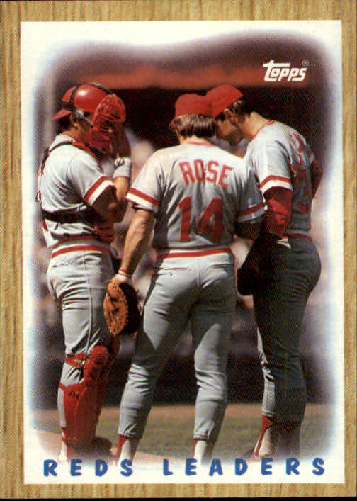 1987 Topps #281 Reds TL/Rose