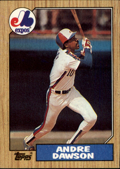 1987 Topps #345 Andre Dawson