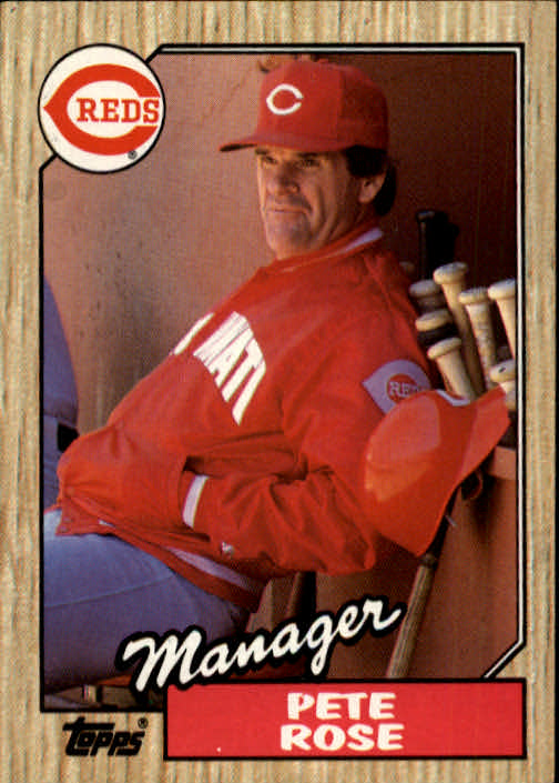 1987 Topps #393 Pete Rose MG/TC