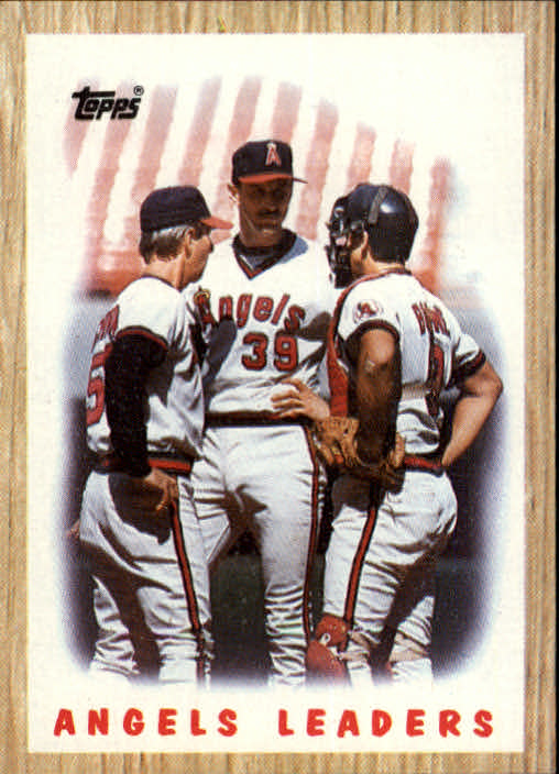 1987 Topps #556 Angels Team/(Rene Lachemann CO&/Mike Witt& and/ front image