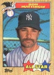 1987 Topps #606 Don Mattingly AS