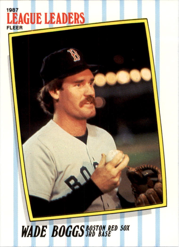 1987 Fleer League Leaders #3 Wade Boggs
