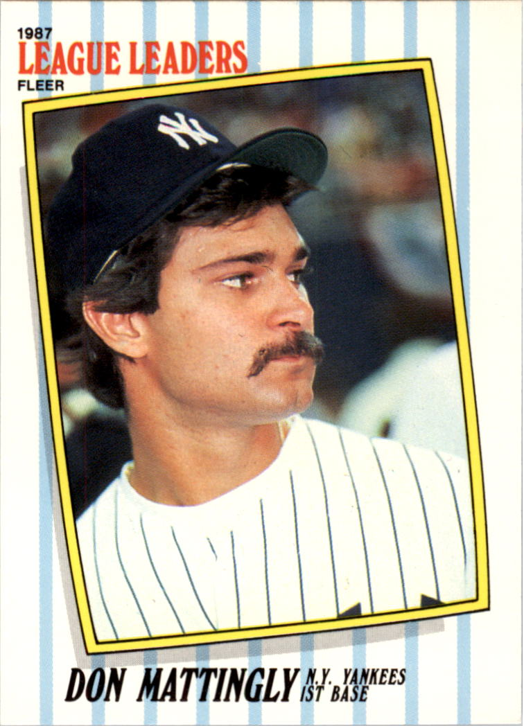 1987 Fleer League Leaders #28 Don Mattingly