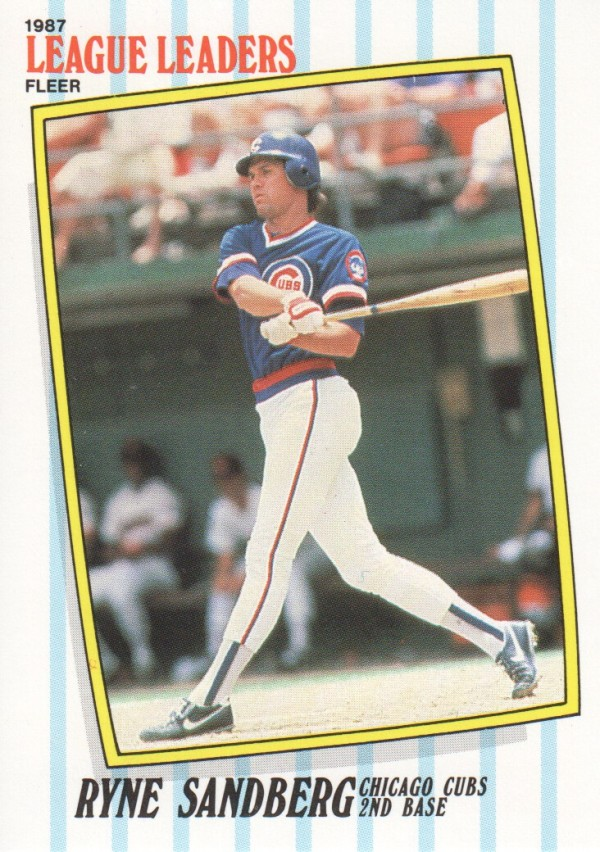 1987 Fleer League Leaders #39 Ryne Sandberg