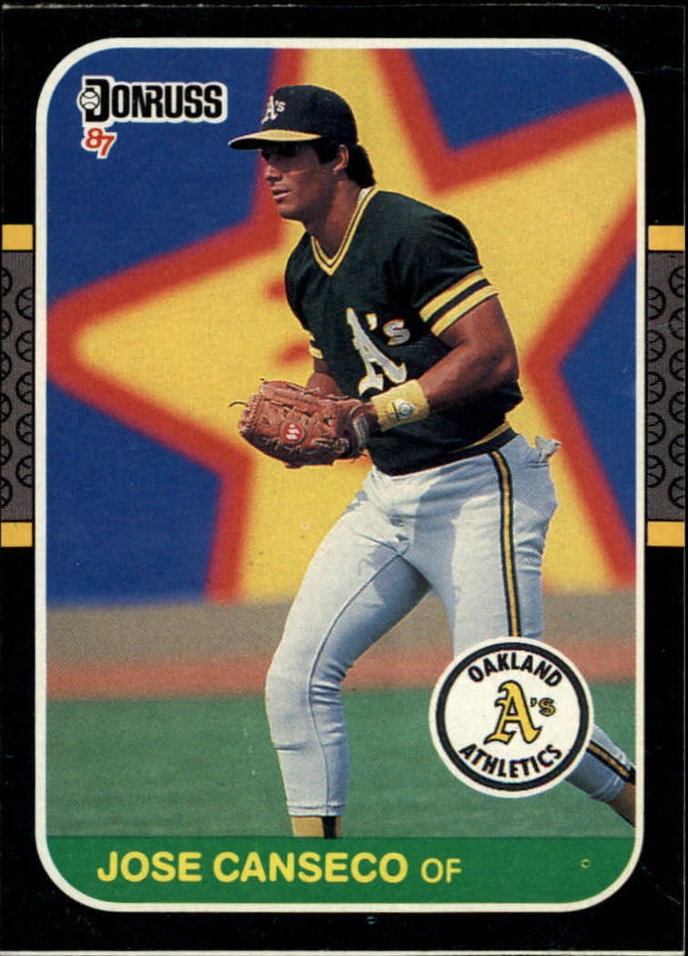 1987 Donruss Wax Box Cards #PC12 Jose Canseco