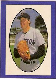 1987 Red Foley Sticker Book #70 Roger Clemens