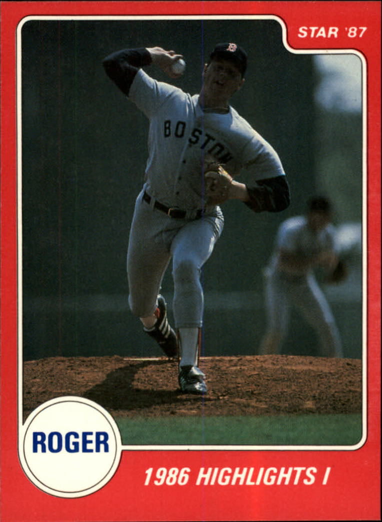 1987 Star Clemens #9 Roger Clemens/1986 Highlights I