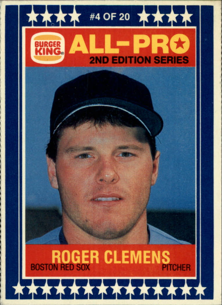 1987 Burger King All-Pro #4 Roger Clemens