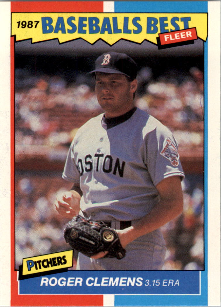1987 Fleer Sluggers/Pitchers #10 Roger Clemens