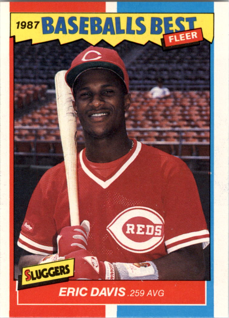 1987 Fleer Sluggers/Pitchers #11 Eric Davis