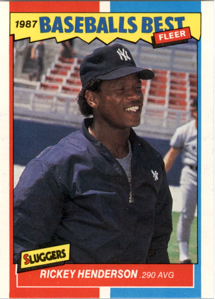 1987 Fleer Sluggers/Pitchers #18 Rickey Henderson