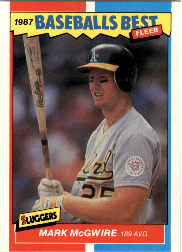 1987 Fleer Sluggers/Pitchers #26 Mark McGwire