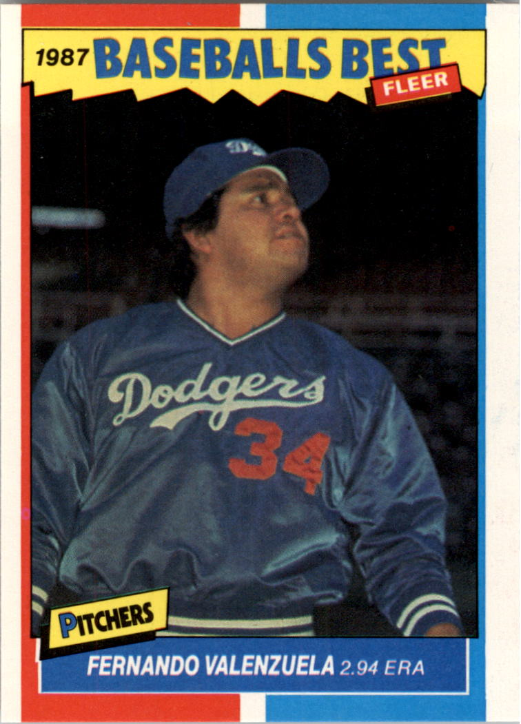 1987 Fleer Sluggers/Pitchers #43 Fernando Valenzuela