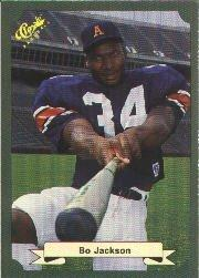 1987 Classic Game #15 Bo Jackson/(Swinging bat in/Auburn FB uniform)