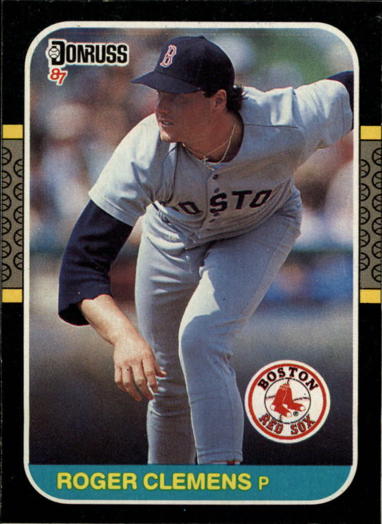 1987 Donruss All-Star Box #PC14 Roger Clemens
