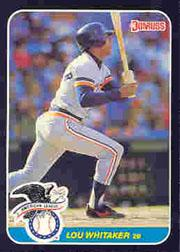 1987 Donruss All-Stars #3 Lou Whitaker