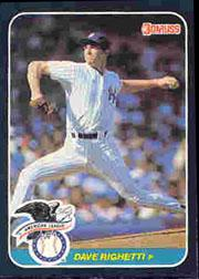 1987 Donruss All-Stars #55 Dave Righetti