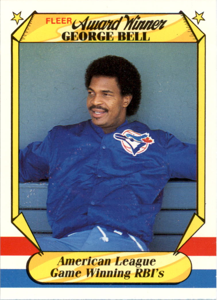 1987 Fleer Award Winners #2 George Bell