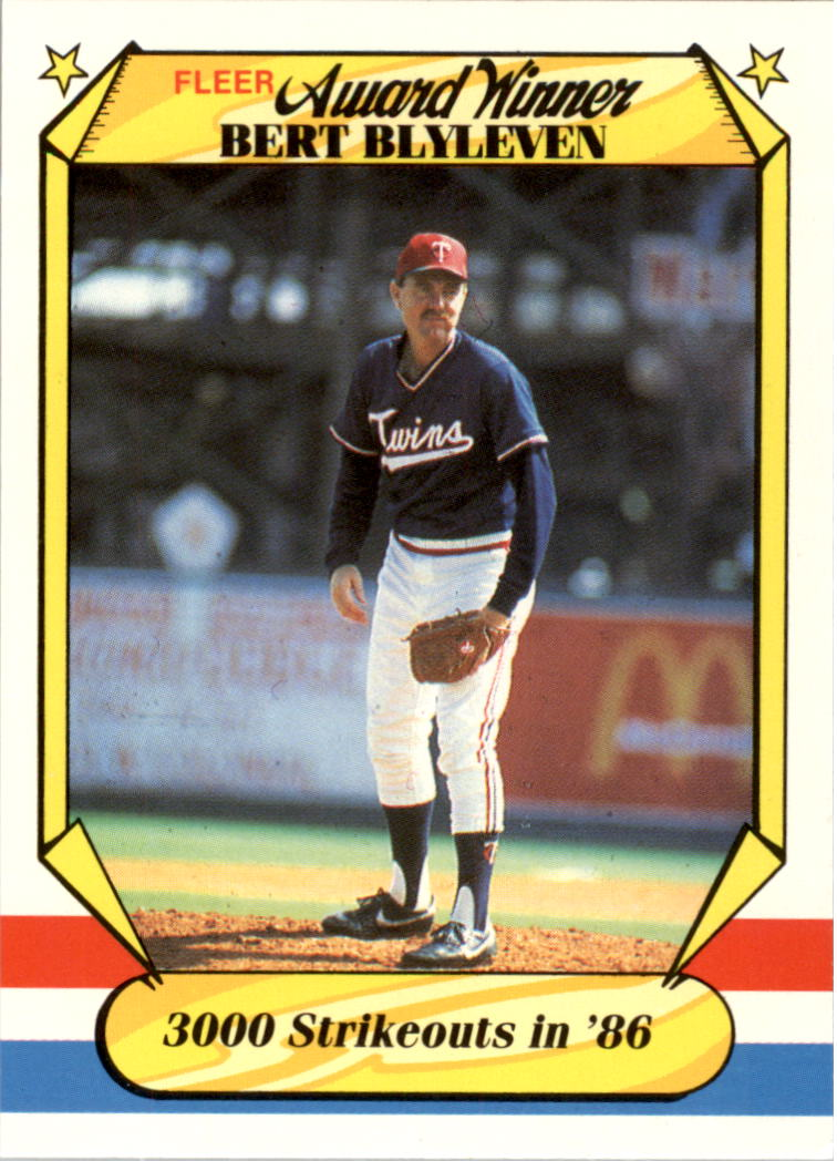 1987 Fleer Award Winners #3 Bert Blyleven