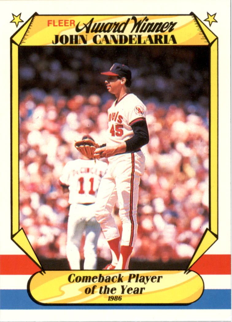 1987 Fleer Award Winners #5 John Candelaria