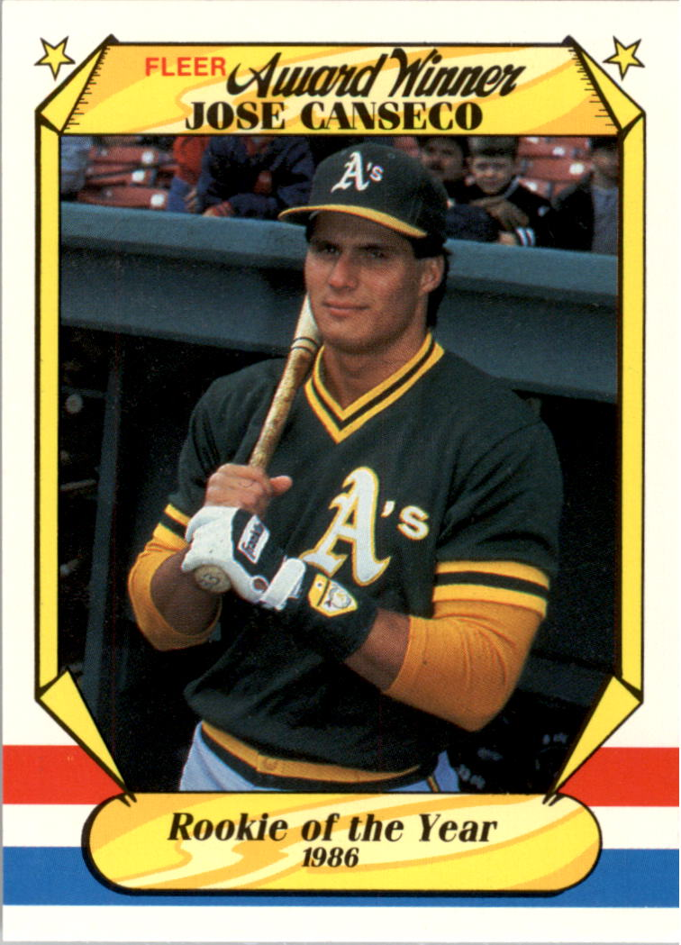 1987 Fleer Award Winners #6 Jose Canseco