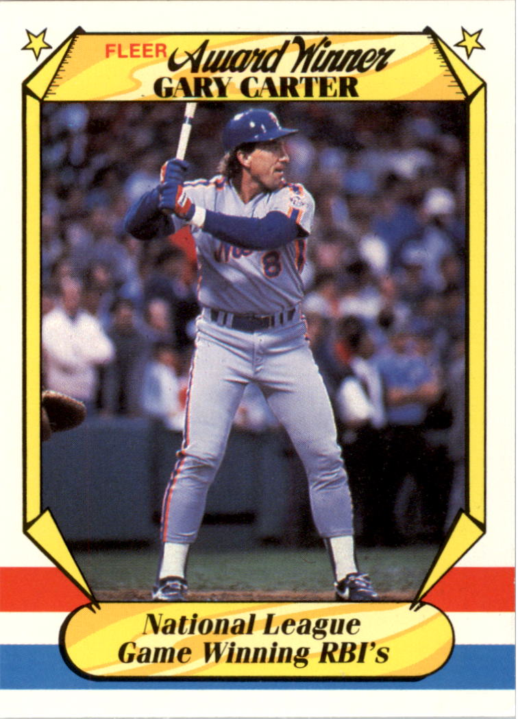 1987 Fleer Award Winners #7 Gary Carter