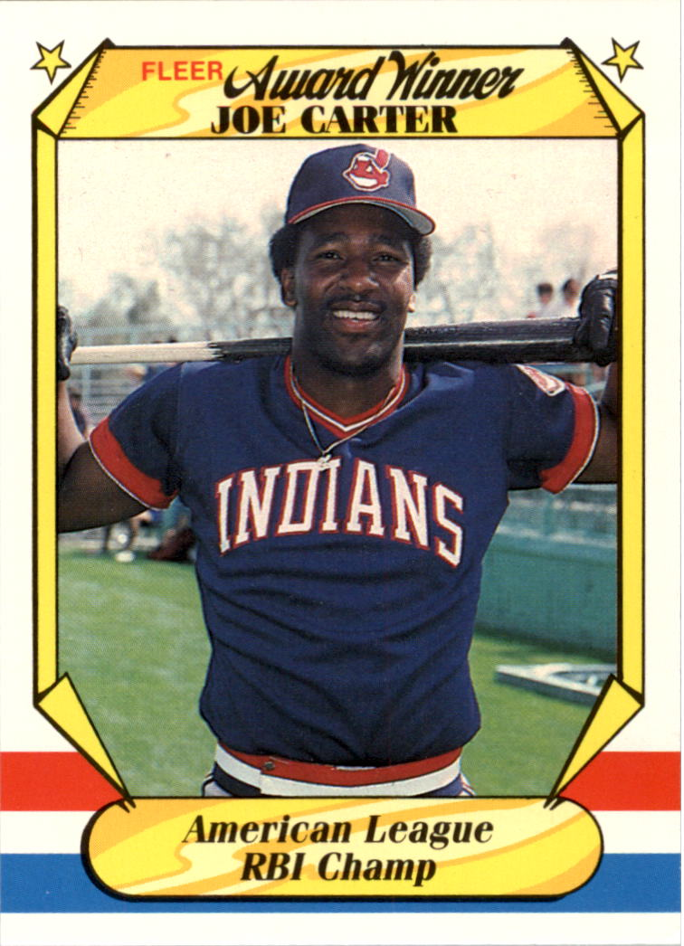 1987 Fleer Award Winners #8 Joe Carter
