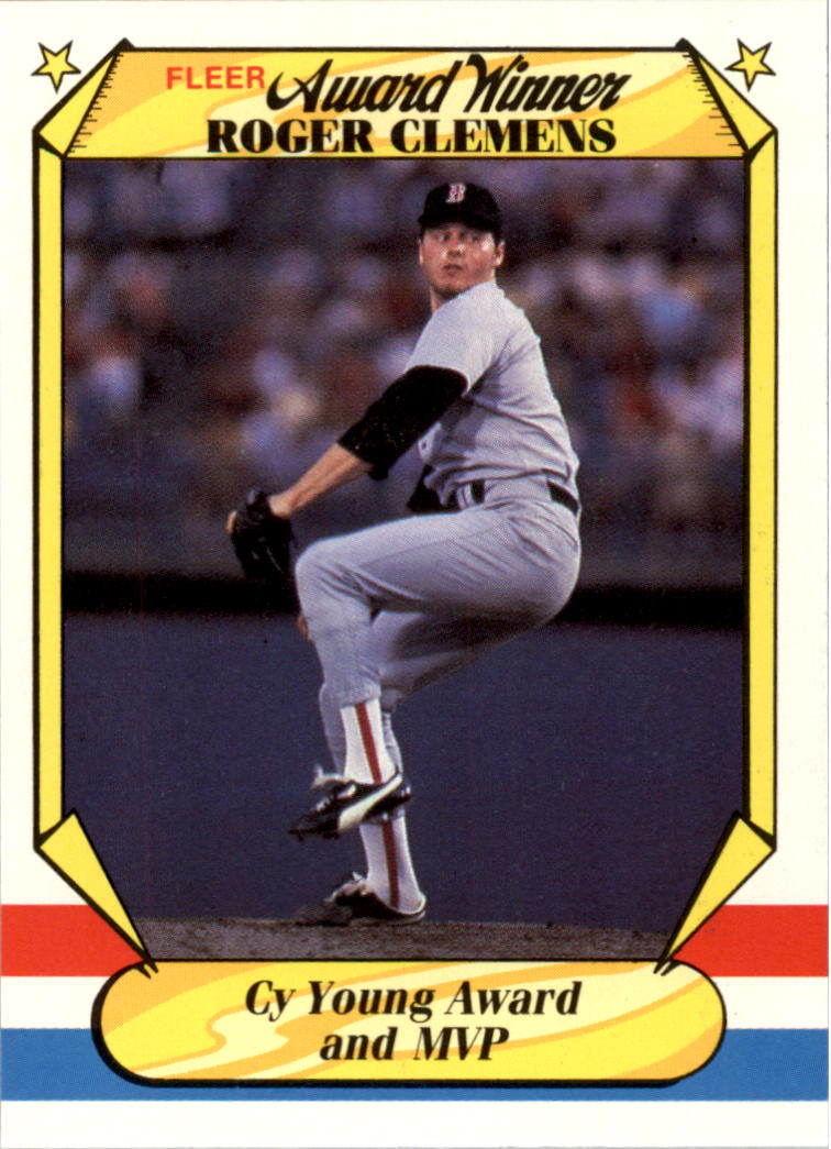 1987 Fleer Award Winners #9 Roger Clemens