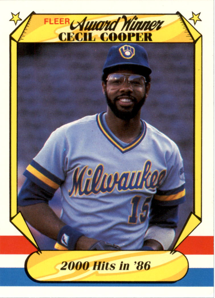 1987 Fleer Award Winners #10 Cecil Cooper