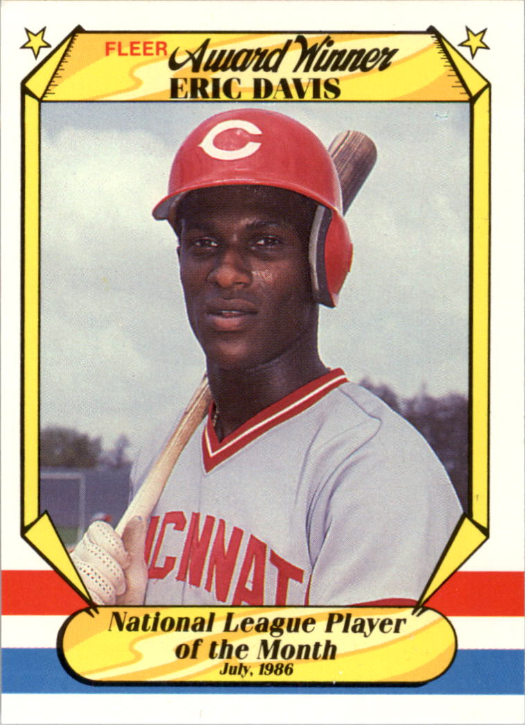 1987 Fleer Award Winners #11 Eric Davis
