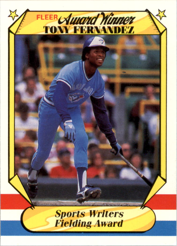 1987 Fleer Award Winners #12 Tony Fernandez