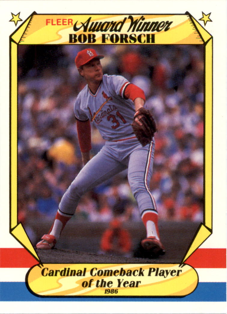 1987 Fleer Award Winners #14 Bob Forsch