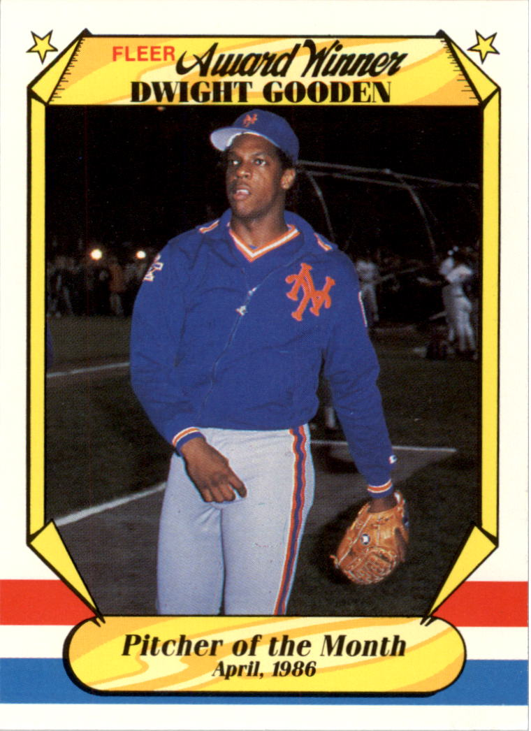 1987 Fleer Award Winners #15 Dwight Gooden
