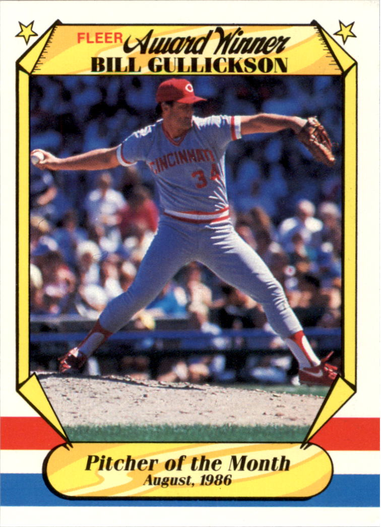 1987 Fleer Award Winners #18 Bill Gullickson