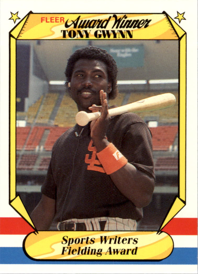1987 Fleer Award Winners #19 Tony Gwynn