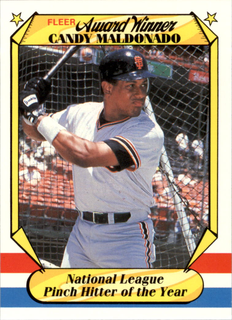 1987 Fleer Award Winners #23 Candy Maldonado