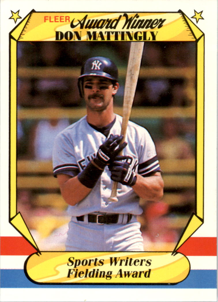 1987 Fleer Award Winners #24 Don Mattingly