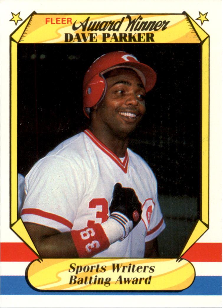 1987 Fleer Award Winners #27 Dave Parker