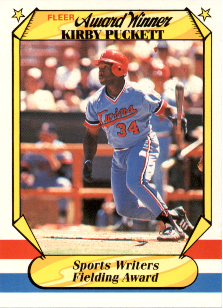 1987 Fleer Award Winners #30 Kirby Puckett