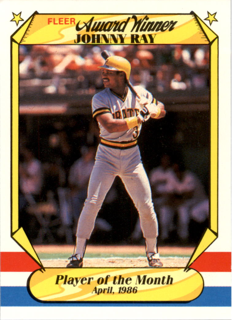 1987 Fleer Award Winners #31 Johnny Ray