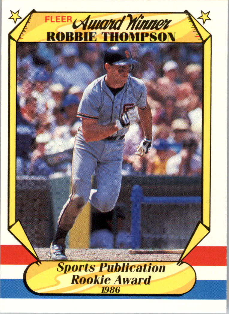 1987 Fleer Award Winners #39 Robby Thompson