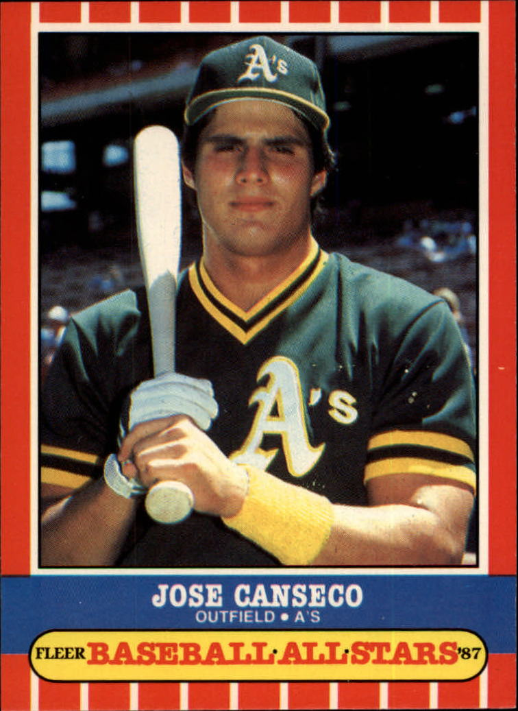 1987 Fleer Baseball All-Stars #6 Jose Canseco
